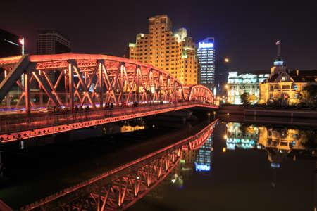 publicidad exterior: Shanghai puente del jardín, puente Waibaidu