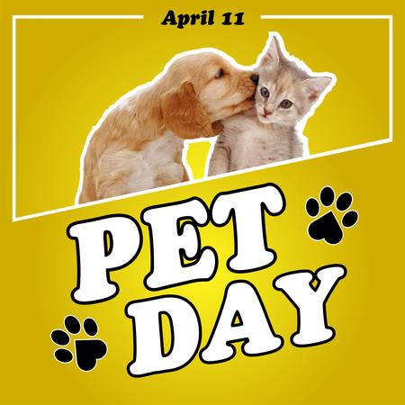 National Pet Day card or background. vector illustration. Illustration