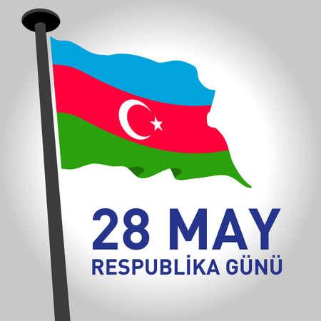 May 28 Respublika. Translation from azerbaijani: 28th May Republic day of Azerbaijan.