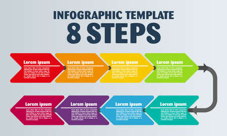 Vector Infographic design and 8 options or steps. Infographics for business