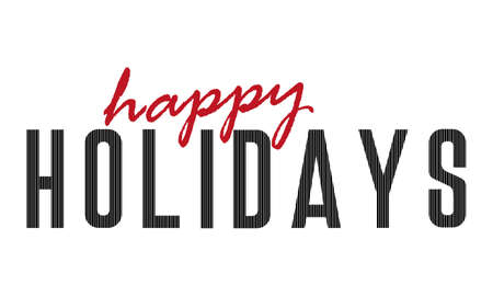 The word Happy Holidays. Vector banner with the text happy Holidays