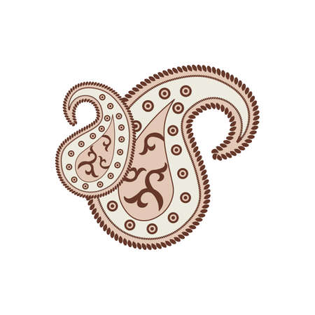 Paisley pattern. Indian ornament. Vector illustration.