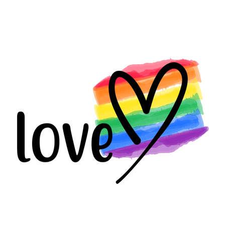 Love vector template. Happy Pride day gay