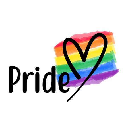 Pride Love vector template. Happy Pride day gay