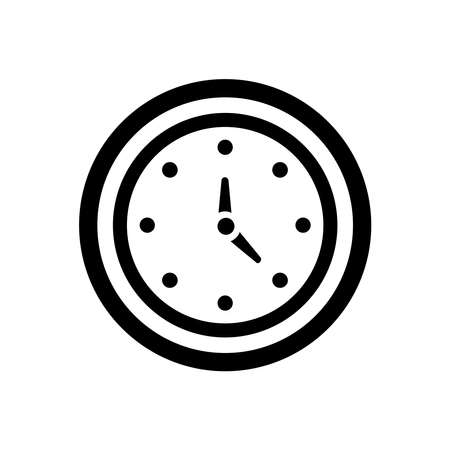 Vector Time and Clock icon. Circle arrow icon.Vector illustration.