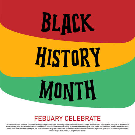 Black history month celebrate. vector illustration design graphic Black history month Illustration