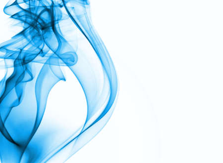 smell of burning: blue smoke background with place for text