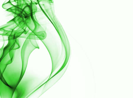 smell of burning: green smoke background with place for text Stock Photo