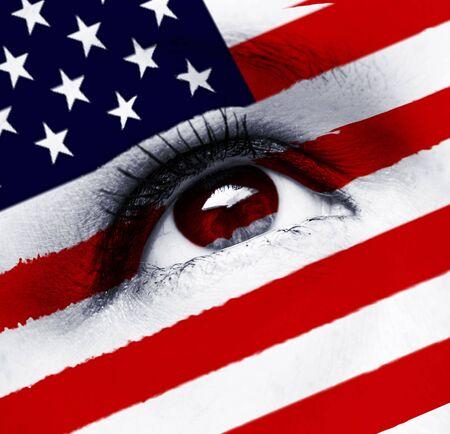 usa flag eye photo
