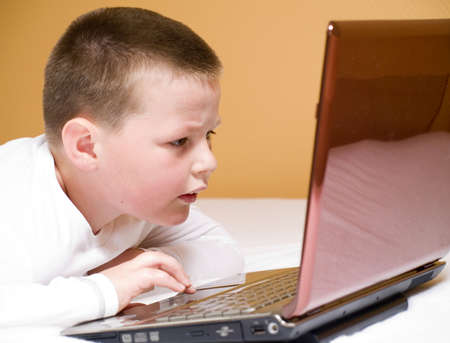 boy with computer Stock Photo - 5046278