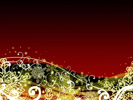abstract dark red christmas background Stock Photo - 5976206