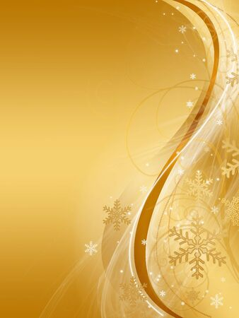 abstract vertical gold christmas background