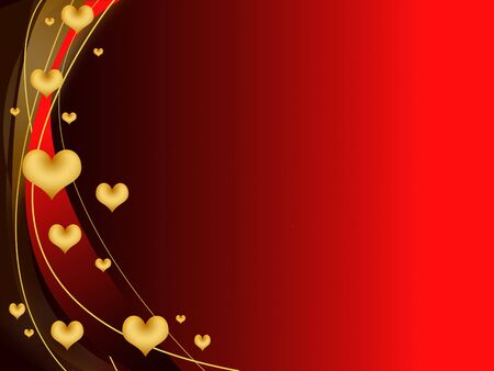 valentine's day card with hearts Stock Photo - 6296895