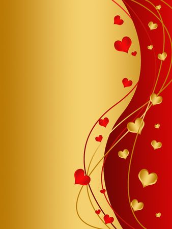 valentine's day card with hearts Stock Photo - 6296897