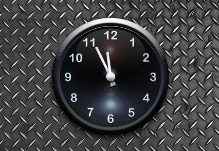 clock on metal wall Stock Photo - 6914932