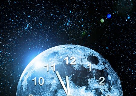 planet clock in space Stock Photo - 6914931