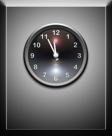 clock on metal wall Stock Photo - 6915033