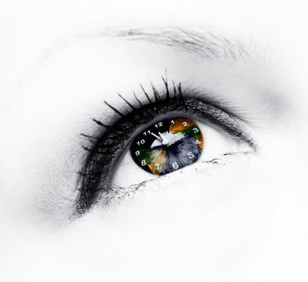 earth clock in eye Stock Photo - 6915449