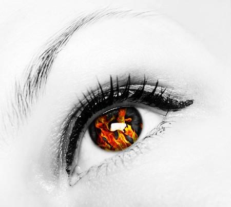 fire eye Reklamní fotografie