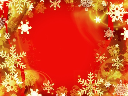 christmas gold: abstract red christmas background