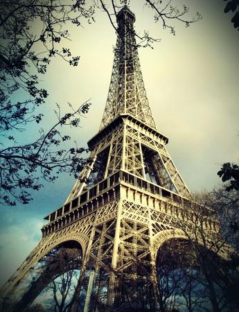 francia: Torre Eiffel en Par�s  Foto de archivo