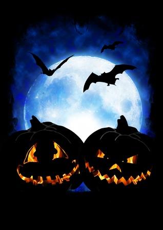 halloween pumpkin on dark background Reklamní fotografie