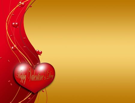 valentines day greeting card over red dark background Stock Photo - 12010994