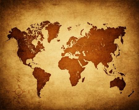 Antiguo mapa del mundo Foto de archivo - 20233696