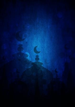 dark blue abstract background for eid mubarak festival
