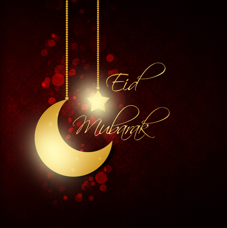 abstract background with eid mubarak greeting for Eid dul-Adha  festival