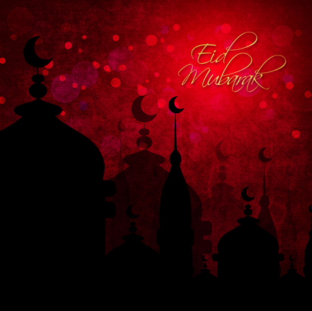 dark abstract background for eid mubarak festival