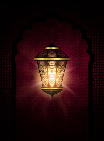 ramzan: dark ramadan kareem background with shiny lantern