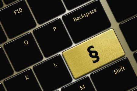 Primer plano de teclado de la computadora con el botón de punto Foto de archivo - 32305836