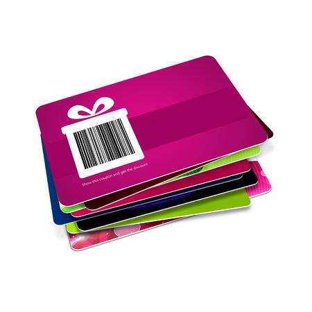 kortingsbonnen met barcode geïsoleerd over witte achtergrond