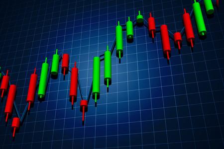 暗い背景上の外国為替ローソク足チャート