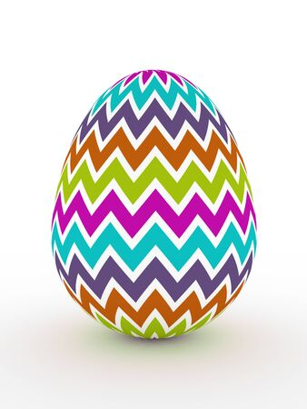 laying egg: 3d colorful Easter egg lying on white floor