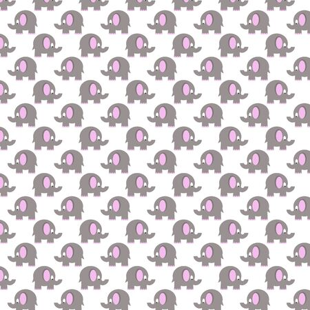 grey pattern: seamless pattern with grey elephants Stock Photo