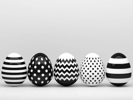 festive occasions: 3d elegant Easter eggs  with place for text