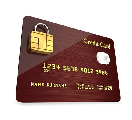international bank account number: 3d credit card isolated over white background