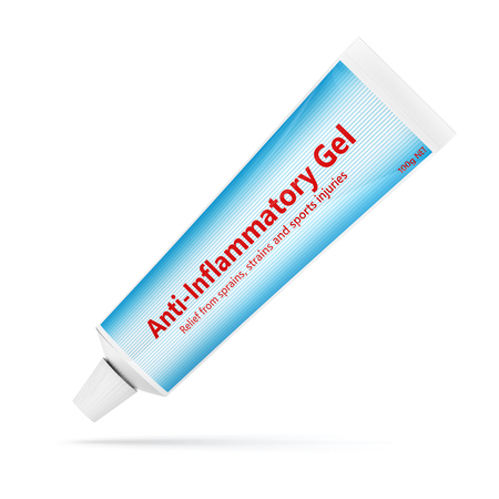 3d render of anti-inflammatory gel isolated over white background