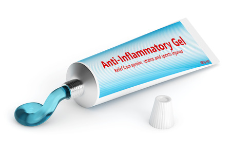 3d render of anti-inflammatory gel isolated over white background Stock Illustration - 90883748