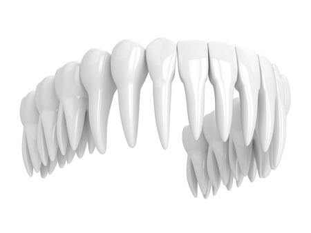 3d render of toothing isolated over white background