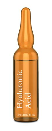 3d render of hyaluronic acid ampoule isolated over white background Zdjęcie Seryjne