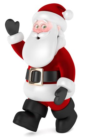 3d render of Santa Claus isolated over white background