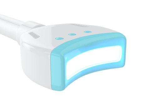 3d render of uv lamp to teeth bleaching. Teeth whitening concept.