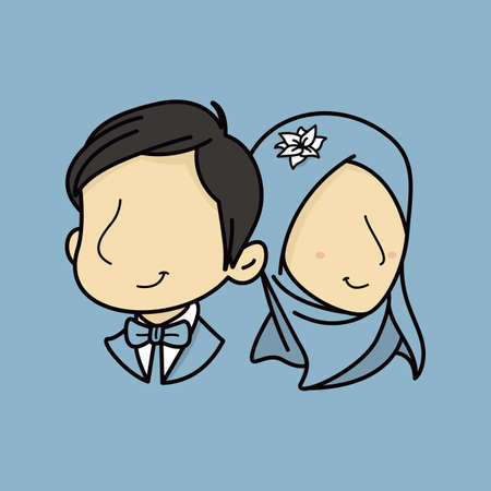 4141 Muslim Wedding Stock Illustrations Cliparts And