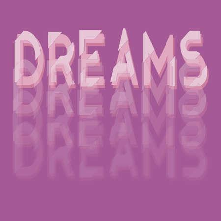 Dreams shirt print, gradient graphic print, pink design. Çizim
