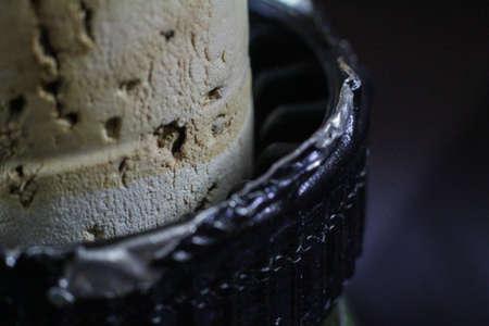 foil: Liquor Cork Bottle