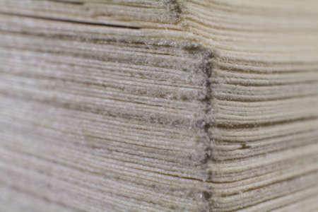 古典的な擦り切れている書籍のページ 写真素材