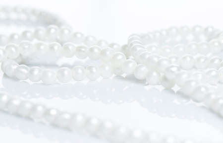 Pearl necklace over white background Stock Photo - 24450201